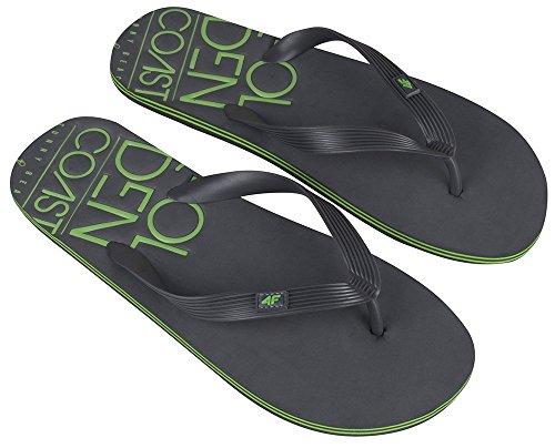 4 F Mules Pantoufles Tongs Pantoufles Tongs Homme, Sabots Pantoletten Beach Chaussures Esan Dalen Tongs Plage Sauna Plage Klm001 Ss16 (graphite,)