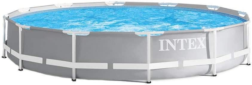 Amazon Com Intex 26710eh Prism 12ft X 30in Metal Frame Outdoor Above Ground Round Swimming Pool With Easy Set Up Fits Up To 6 People Filter Pump Not Included Industrial Scientific