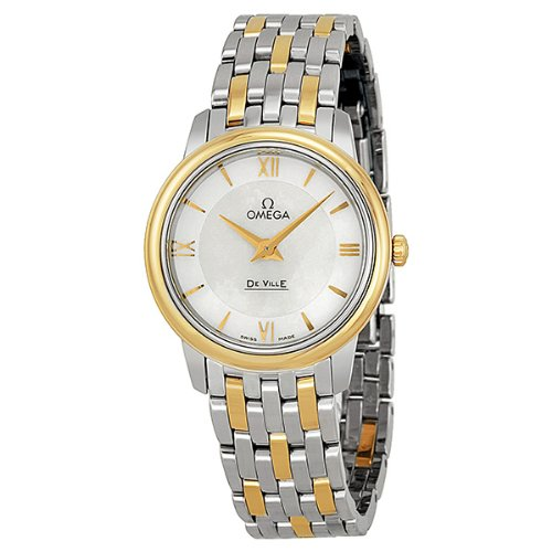 Omega De Ville Prestige White Mother of Pearl Dial Ladies Watch 424.20.27.60.05.001