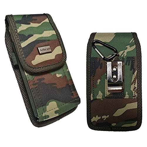 4d527c731e5 AIScell Carrying Case For Iphone SE 5S 5 5C ~Camouflage Rugged Nylon Pouch  Case Metal