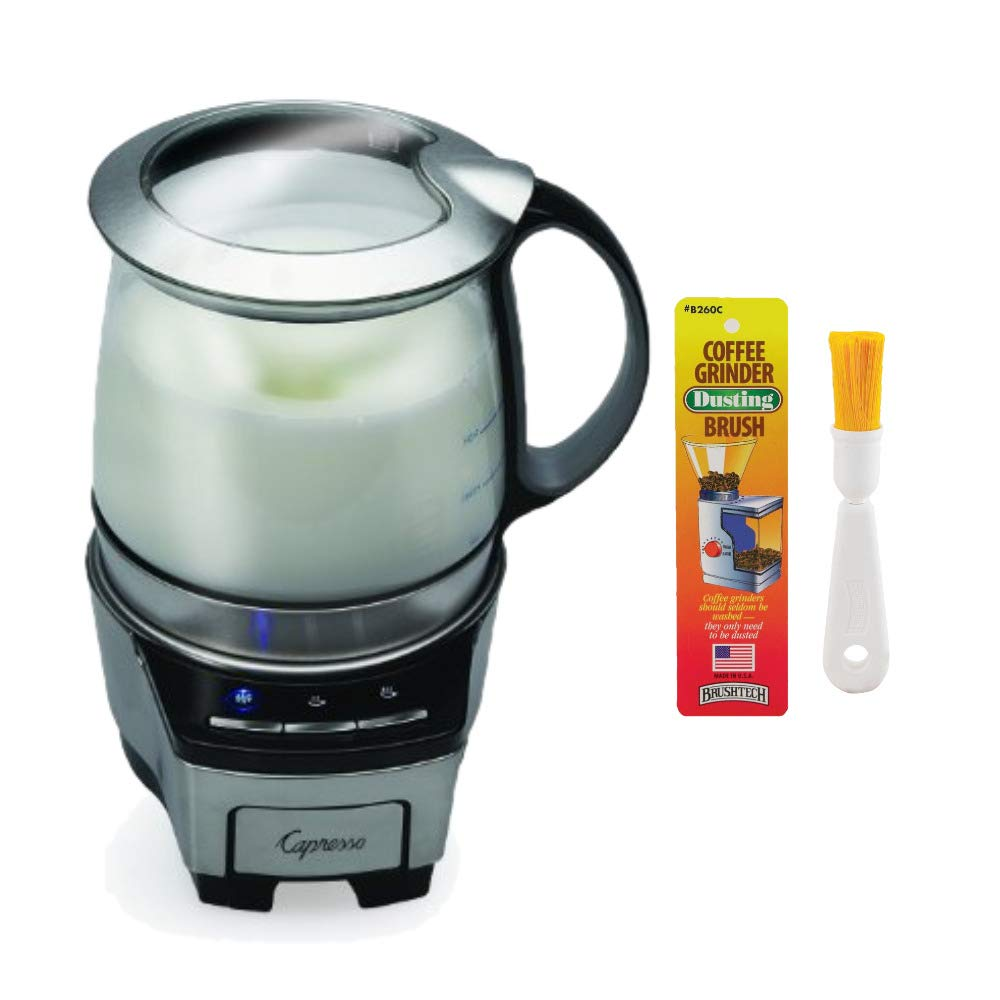 Capresso 206.05 Froth TEC Automatic Milk Frother PLUS Coffee Grinder Dusting Brush (Renewed)