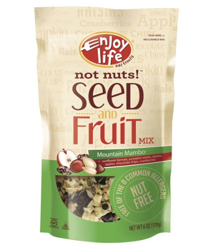 Allergy Tree Nuts - Enjoy Life Not Nuts! Mountain Mambo Seed and Fruit Mix, Gluten, Dairy, Nut & Soy Free,  6-Ounce Pouch (Pack of 6)