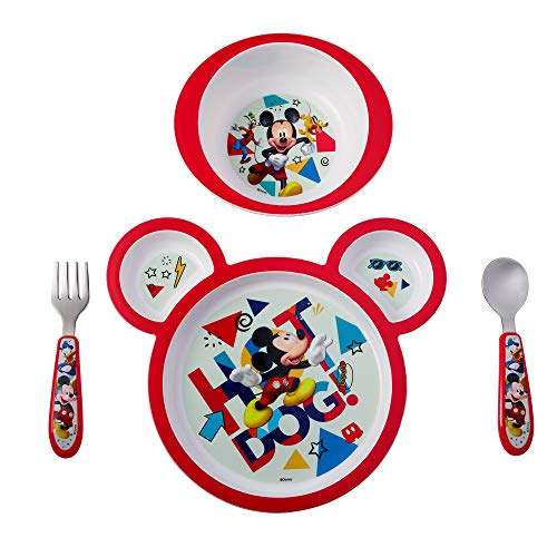 - The First Years Disney Baby Mickey Mouse 4-Piece Feeding Set