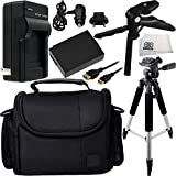 Essential Accessory Kit for Canon EOS Rebel T3, T5 & T6 Includes Replacement LP-E10 Battery + AC/DC Rapid Home & Travel Charger + Full Size Tripod + More