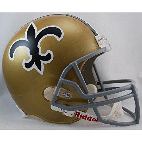 Riddell NFL New Orleans Saints 1967-1975 Throwback Replica Vsr4 Full Size Football Helmet (Replica Mini Helmet 1972 Throwback)
