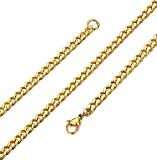 ORAZIO 3.5mm Stainless Steel Necklace for Mens Womens Curb Link Chain 16-30 Inches