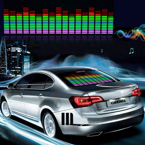 F and B Led Light Sound Music Beat Activated Car Stickers Equalizer Glow LED Light Audio Voice Rhythm Lamp (30In X 6.5In (70cm X 16cm), Colorful) 511%2BC7OxXNL