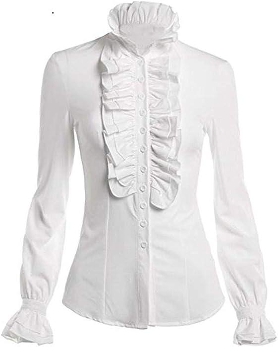 Vectry Blusas De Volantes Blusas Blancas Elegantes Camiseta Blanca Mujer Fiesta Blusas Blusa Volantes Blusas De