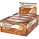 Quest Nutrition Protein Bar Pumpkin Pie. Low Carb Meal Replacement Bar w/ 20g+ Protein. High Fiber, Soy-Free, Gluten-Free (24 Count)