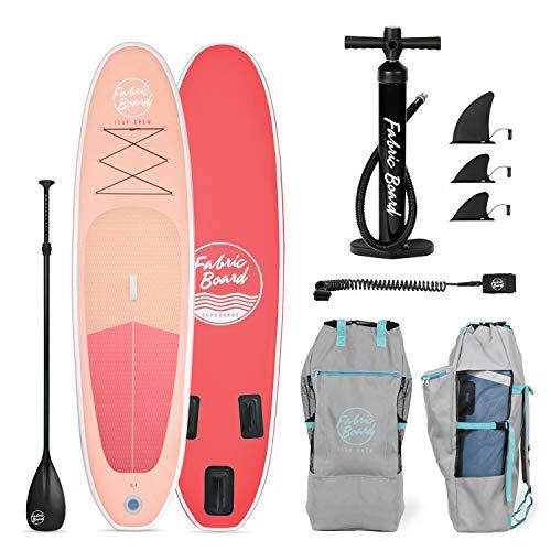 FabricBoard 10′ Tabla de Paddle Surf Hinchable 305x77x15cm, Tecnología Fusion Doble Capa 9.98 kg (20% más Ligera…