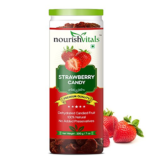 NourishVitals Strawberry Dried Fruit (Dehydrated Fruits) - 200 gm