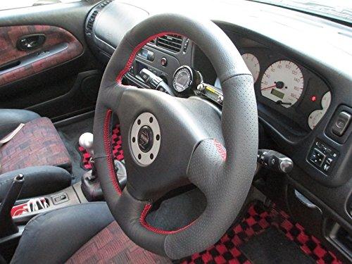 Amazon.com: RedlineGoods Mitsubishi Lancer Evo 4/5/6 1996-00 cubierta del volante de: Automotive
