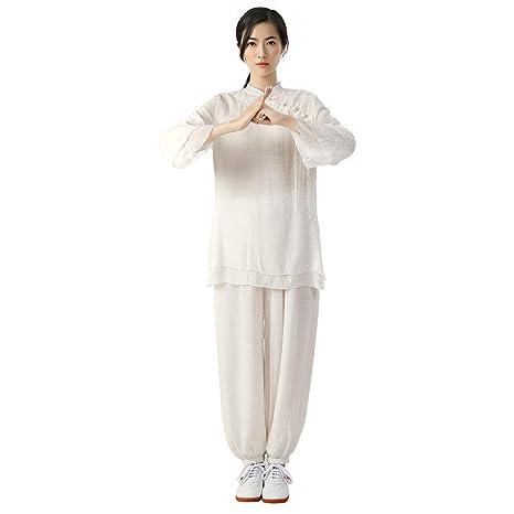JHDUID Ropa de Tai Chi para Mujer Ropa de Kung Fu Traje de ...