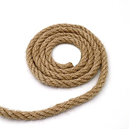Amazon Com 32 Feet Natural Strong Jute Twine String Thick Hemp Rope
