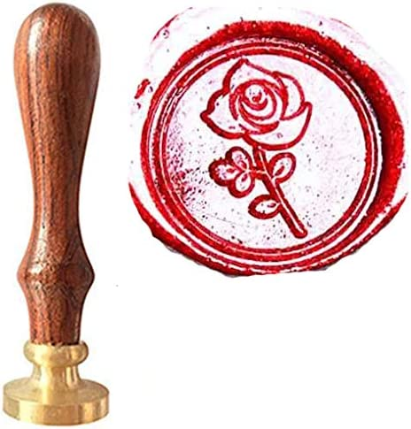 MNYR Romantic Rose Flower Wax Seal Stamp Stick Gift Box Candle Gift Box Kit Set Impressive Valentine Gift Idea Love Letter Gift Envelopes Wedding Invitations Parcels Cards Letters Sealing Stamp