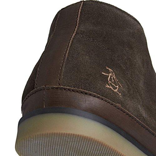 Original Penguin Lodge Marron Nouveau Hommes Cuir Suede Desert Chaussures Bottes