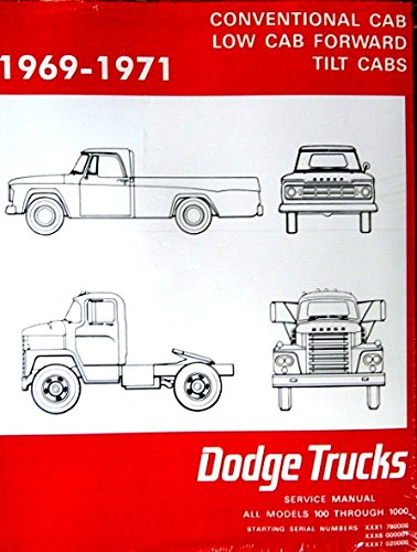 1969 1970 1971 DODGE PICKUP & TRUCKS FACTORY REPAIR SHOP & SERVICE MANUAL - INCLUDES: Power Wagon, 100, 200, 300, 400, 500, 600, 800, D, P, S, W, Forward Control, Crew Cab, School Bus, 4x4, 4x2, & 6x4. 69 70 71