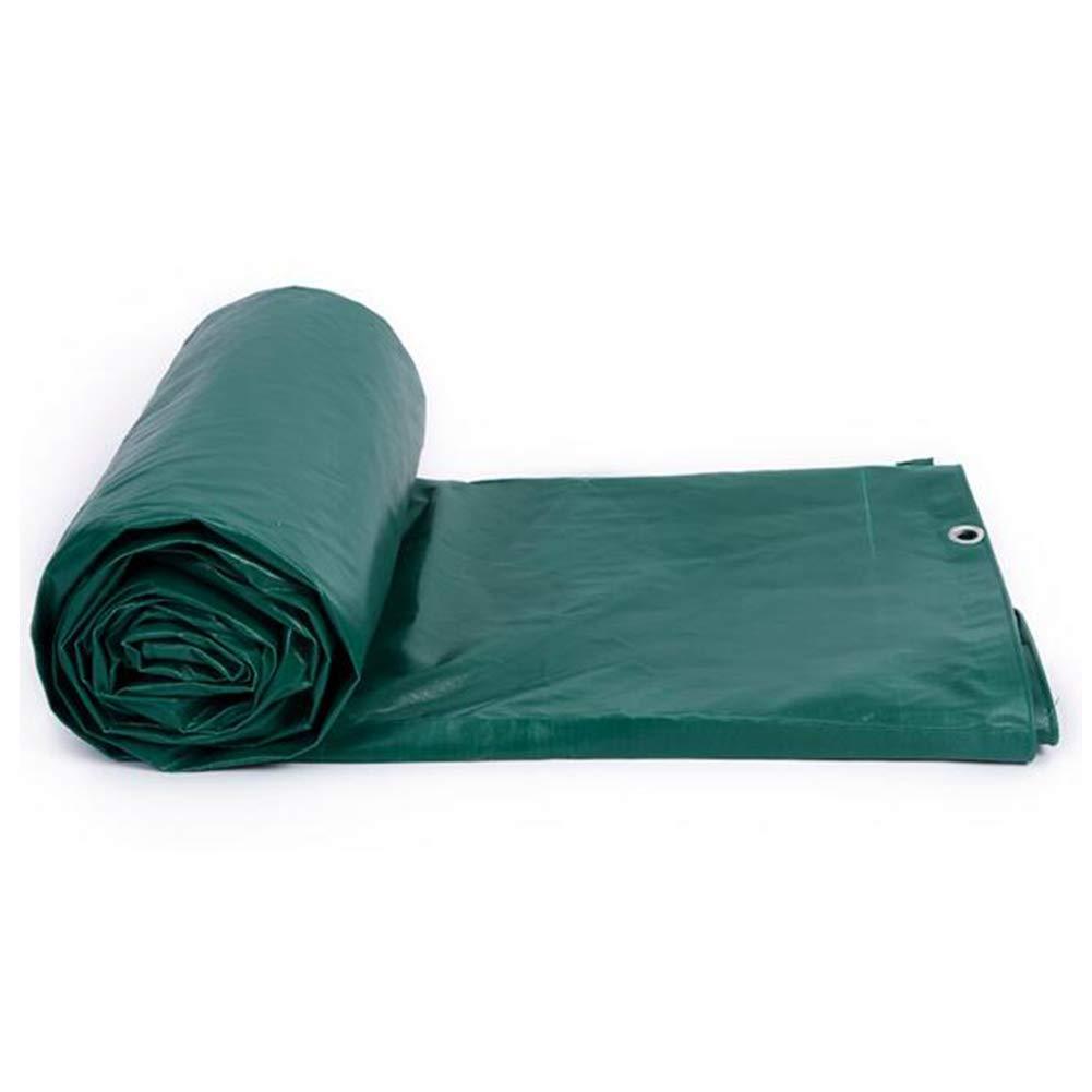 DALL ターポリン タープ 防水 厚い PVC ヘビー レインルーフ 工場カバー サンシェード 防風 (色 : Green, サイズ さいず : 4*6m) 4*6m Green B07KTKXYCG