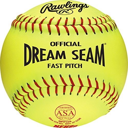 Dream Seam Softballs (Rawlings Official ASA Dream Seam Fast Pitch Softball, 12 Count, WFP12A)