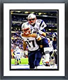 "Tom Brady Rob Gronkowski New England Patriots Action Photo (Size: 12.5"" x 15.5"") Framed"
