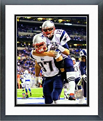 Tom Brady Rob Gronkowski New England Patriots Action Photo (Size: 12.5