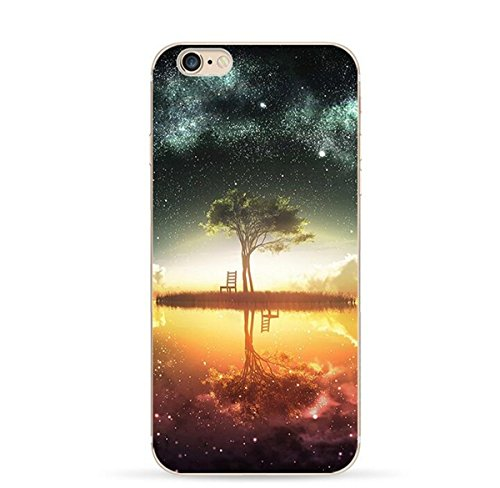 Hovisi TPU Art Design Bright stars Case Back Cover for Iphone 6Plus/6sPlus 5.5Inch (Color2)