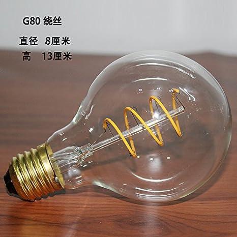 Vintage edsion bombilla bombilla LED E27 Tornillo amarillo cálido bar-cafetería decorada Bodas iluminación araña ,5,G80 bobinado de cable de tungsteno, ...