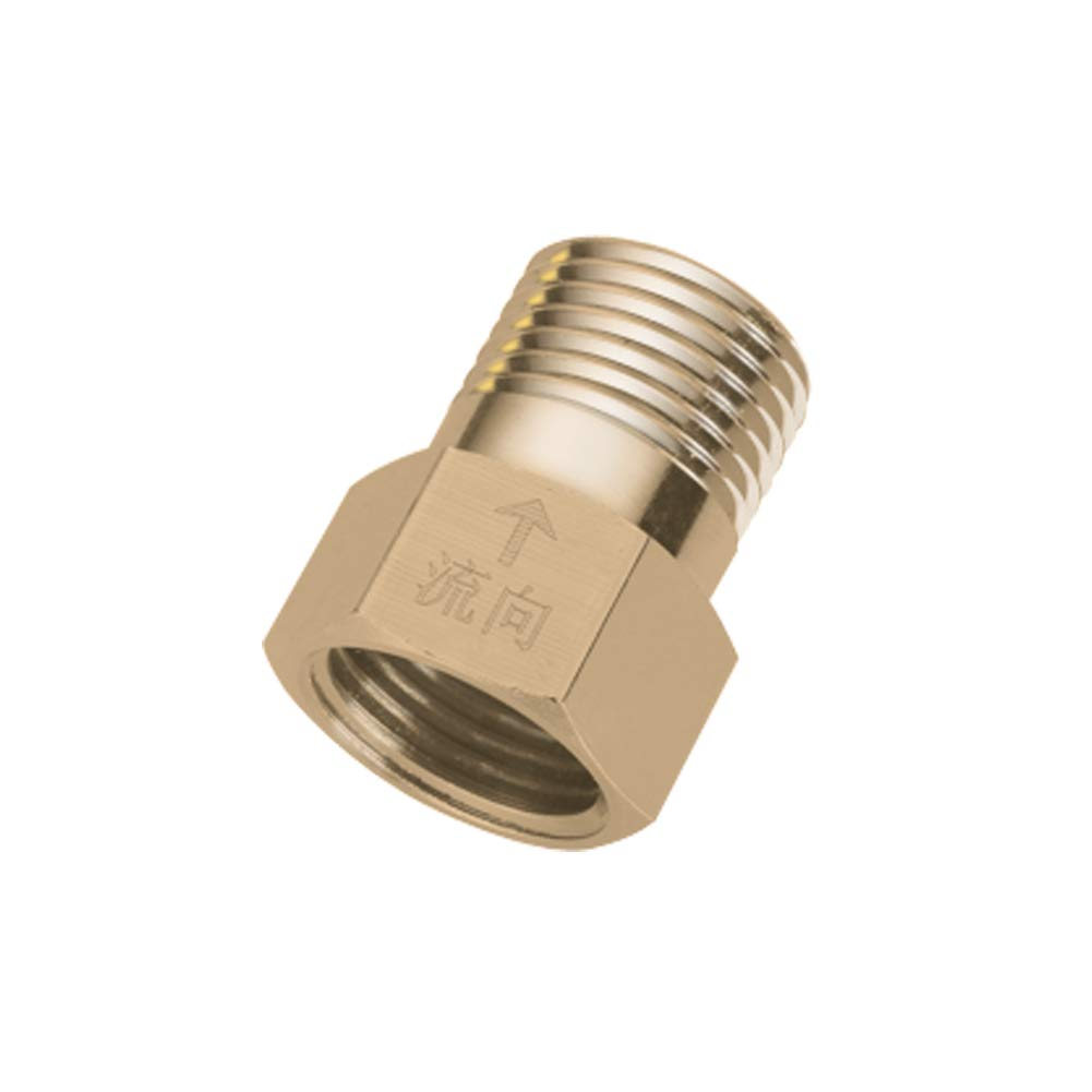 Hooshing 1//2 inch Male to Female Thread Brass Check Valve Single