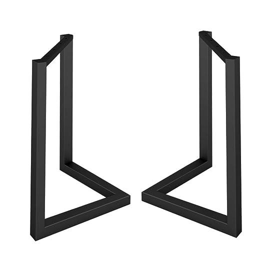 Patas de mesa de comedor en forma de V de hierro forjado negro ...