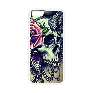 "J-LV-F Cover Shell Phone Case Sugar Skull For iPhone 6 Plus (5.5"")"