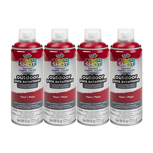 Bulk buy: Tulip ColorShot Outdoor Upholstery Spray Paint 8 oz. 4-pack, Red