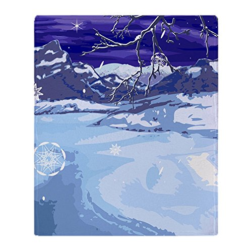 CafePress Snowy Winter Scene Soft Fleece Throw Blanket, 50