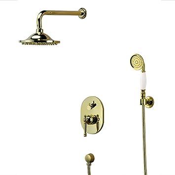 Modernes Unterputz Duschset Komplett Regenschauer Armatur Chrom Sanlingo
