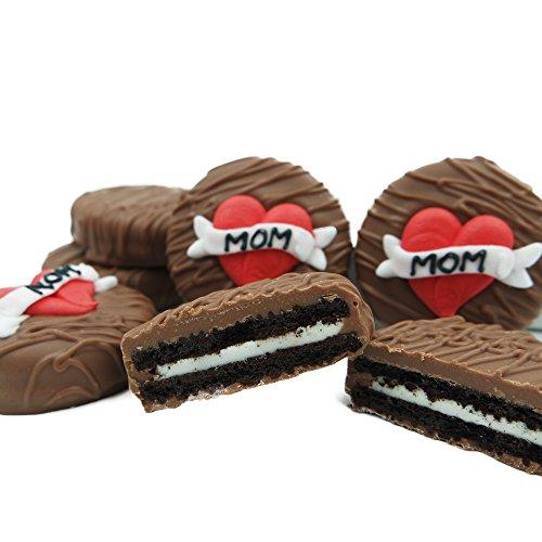 Philadelphia Candies Milk Chocolate Covered OREO Cookies, Mom Heart Gift for Mom Net Wt 8 oz