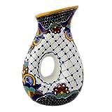 NOVICA Multicolor Floral Ceramic Pitcher, 47 oz. 'Zacatlan'