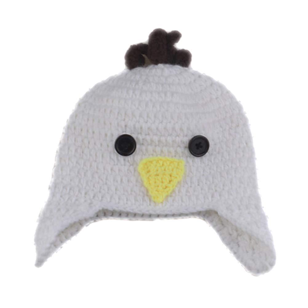 Costume da coniglio pollo Neonato ChanYW con berretto e berretto Coniglio berretto lavorato a maglia