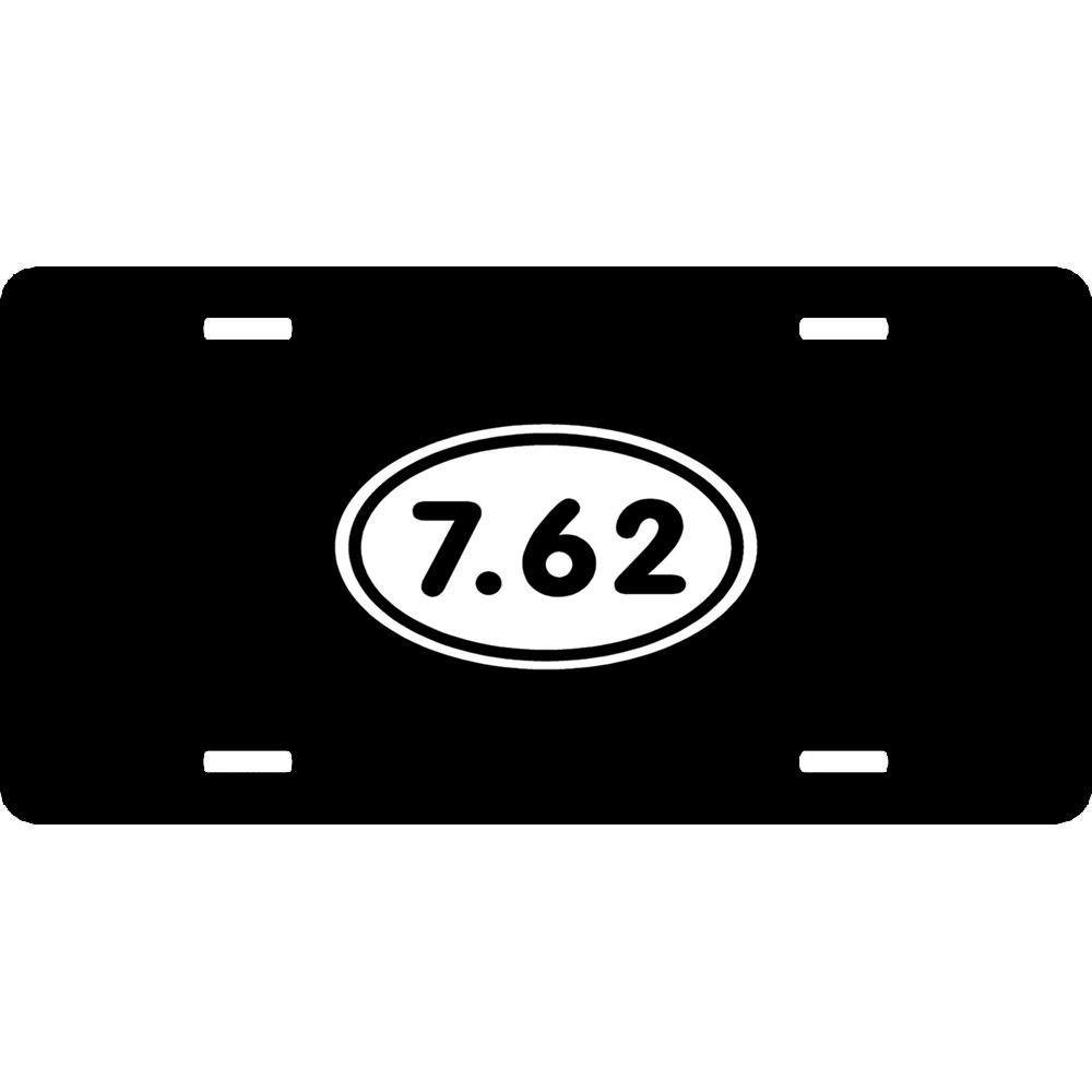 12 x 6 Inch 4 Holes Aluminum Metal Front Car Tag for US Vehicles Personalized Novelty License Plate Cover