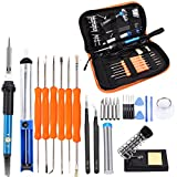 Soldering Iron Kit Electronics, 28-in-1,60W Adjustable Temperature Welding Soldering Iron,5pcs Soldering Iron Tips,Solder Sucker,Soldering Iron Stand,by Kadyn