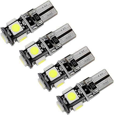per Viaggio 2012 Super Luminoso Sorgente luci Interne a LED Lampada per Auto abitacolo Lampadine di Ricambio Bianca Confezione da 5