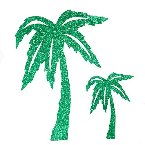 VICTORY SOLUTIONS LIMITED Glittered Palm Tree Cutouts]()