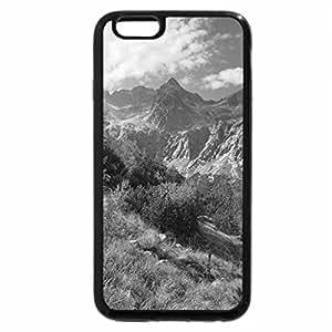 iPhone 6S Plus Case, iPhone 6 Plus Case (Black & White) - mountain valley trail in autumn