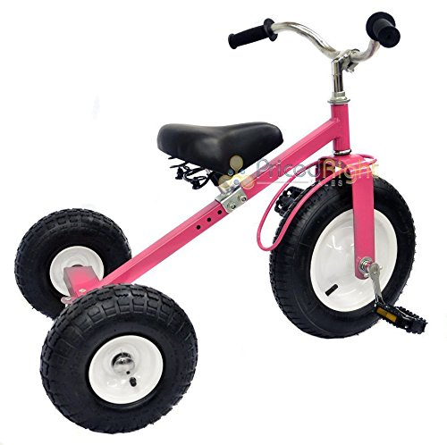 All Terrain Tricycle with Wagon (Pink), #CART-042P by Valley (Image #3)