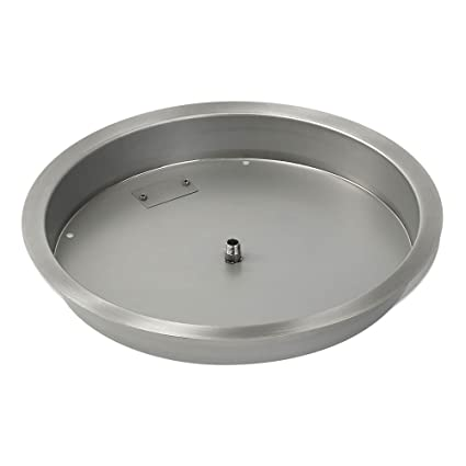 American Fireglass Round Stainless Steel Drop-In Fire Pit Burner Pan,  19-Inch - Amazon.com : American Fireglass Round Stainless Steel Drop-In Fire
