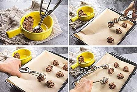 Color : 4CM PR Herramientas de Hielo Crema Cuchara de Cocina de 3 Tama/ño Mango de Acero Inoxidable Primavera pur/é de Patatas sand/ía Bola Cucharada Inicio Accesorios de Cocina