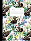 Best GENERIC Friend For Teen Girls - Composition Notebook: Tropical Pandas College Ruled Blank Lined Review