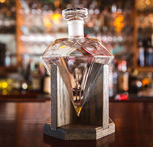 Diamond-Whiskey-Decanter-1000ml-Glass-Liquor-Decanter-Scotch-Rum-Bourbon-Vodka-Tequila-or-Mouthwash-Decanter