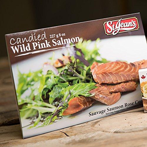 Candied Smoked Wild Canadian Salmon 8 oz Premium Hot Smoked ()
