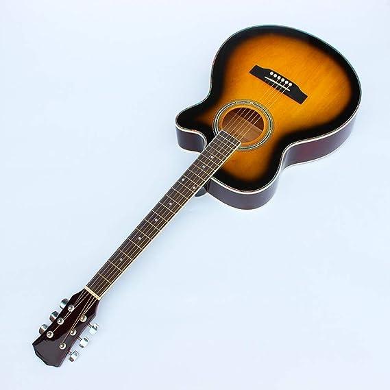 ABMBERTK 1 Piezas Guitarras 40-5 Guitarra acústica de 40 Pulgadas Diapasón de Palisandro con Cuerdas de Guitarra con Estuche rígido, 40 Pulgadas: Amazon.es: Hogar