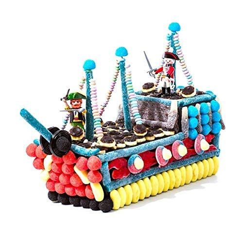 Tarta chuches Playmobil barco pirata: Amazon.es: Handmade