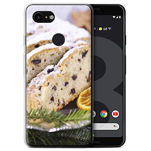 STUFF4 Gel TPU Phone Case/Cover Google Pixel 3 / Stollen/Fruit Cake Design/Christmas Food Collection